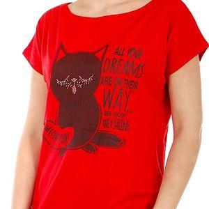 Moderní tričko s potiskem červená