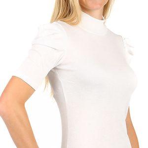 Elegantní tričko s rolákem bílá