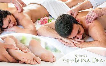 Wellness relaxační balíček pro 2 osoby = 2x 90 minut! Olejová masáž celého těla + zábal + masáž plosek nohou.