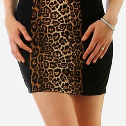 Dámské tygrované šaty hnědá