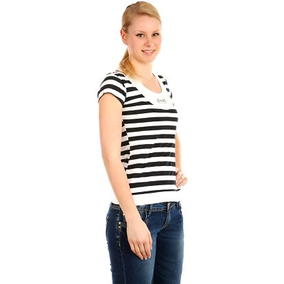 Dámské pruhované tričko bílá