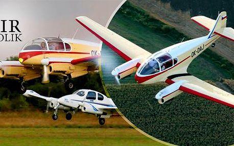 Vyhlídkový let historickým letadlem Aero či L200 Morava v délce 20-60 minut s možností pilotáže v Podhořanech!