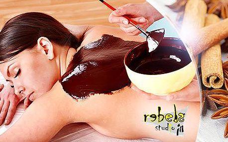 Čokoládová nebo skořicová masáž + zábal v celkové délce 75 minut ve Studiu Rebels ve Stodolní, Ostrava!