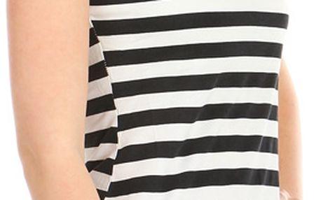 Moderní pruhované tričko bílá