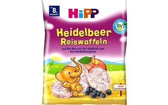 HiPP BIO Borůvkové rýžové oplatky 35g