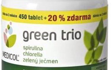 Green Trio Topnatur Chlorella, Spirulina, Zelený ječmen 540 tablet