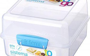 Sistema Obědový boxík na cesty, 1,4 l, Fialová