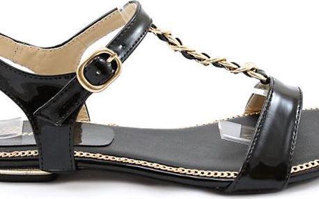 Lesklé sandálky X648B 37