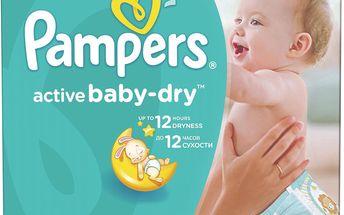 Pampers Active Baby 4 maxi 7-14kg, 147 ks - jednorázové pleny