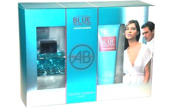 Antonio Banderas Blue Seduction toaletní voda dárková sada pro ženy - Edt 100ml + 100ml tělové mléko