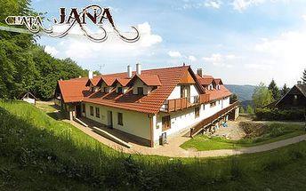 Horská chata Jana s wellness a polopenzí na samotě v Bílých Karpatech
