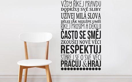 Housedecor Samolepka na zeď - Rodina a její pravidla