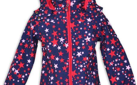 Topo Dívčí softshellová bunda s hvězdičkami - modrá, 128 cm