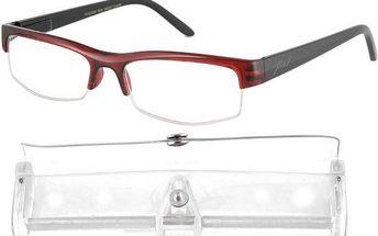 Brýle čtecí American Way +1.00 bordové
