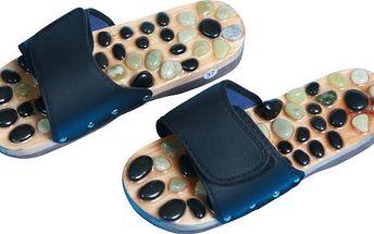 SJH 314B Pantofle akupresurní s přírodní kameny vel.S
