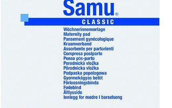 Vložky porodnické SAMU mini 2x20 ks + 1x prsní vložky Fixies +2x fixační kalhotky Molipants L