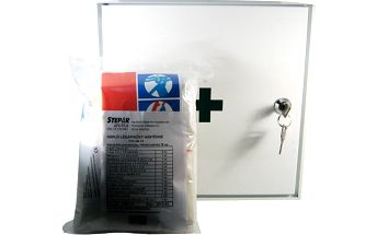 Lékárnička nástěnná s náplní do 10 osob - ZM10 kovová
