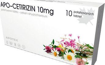 APO-CETIRIZIN 10 MG 10X10MG Potahované tablety