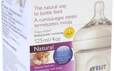 AVENT 125ml Natural PP, 1 ks, mléčná