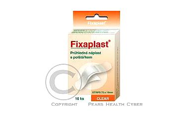 Náplast Fixaplast CLEAR strip 10 ks