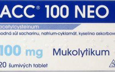 ACC 100 NEO 20X100MG Šumivé tablety