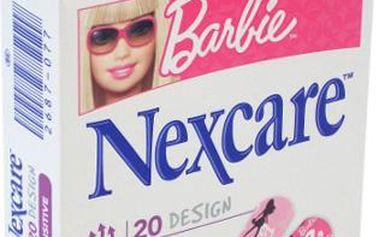 3M Nexcare Dětská náplast Barbie 19 x 72 mm 20 kusů