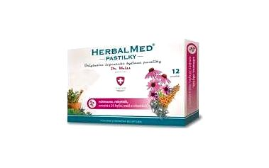 HERBALMED Dr.Weiss pastilky Echinacea, rakytník, vitamín C 12 pastilek