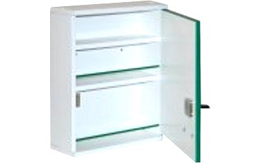 Lékárnička ALFA dřevěná A500 závěsná 42x34x13