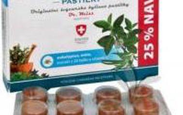 HERBALMED Dr.Weiss pastilky Eukalypt, máta, vitamín C 24+6 pastilek