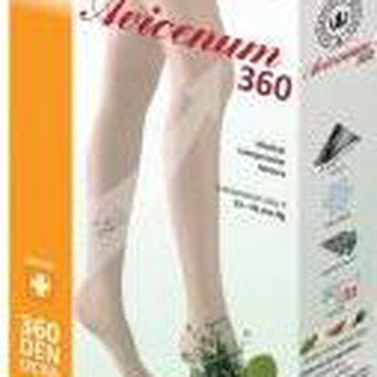 Avicenum 360 punčochy lýtkové otevřená špička 3K světlá