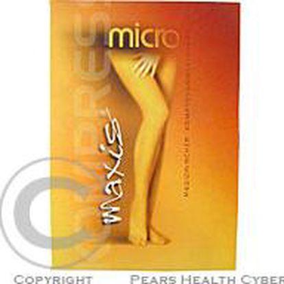 Maxis MICRO-stehenní punčochy s krajkou vel. 4N, světlé se špicí