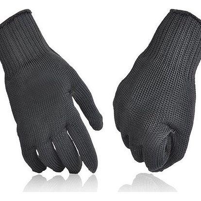 Kevlarové ochranné pracovní rukavice - černé - dodání do 2 dnů