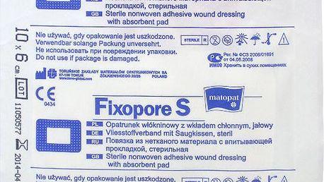 Fixopore S 6 x 10 cm á 1 ks. sterilní náplast
