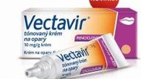 Vectavir tónovaný krém na opary 10 mg/g krém