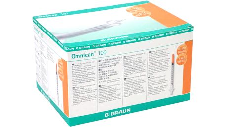Injekční stříkačka ins.1.0ml/100 IU Omnican 100 ks 9151150