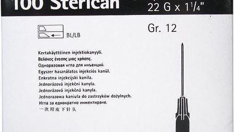 Injekční jehla 0.7 x 30 mm 22 G černá 100 ks Sterican