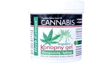 Herb Extract Cannabis Konopný masážní gel 250 ml