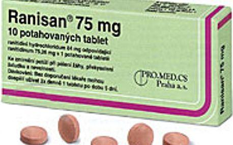 RANISAN 75 MG 10X75MG Potahované tablety
