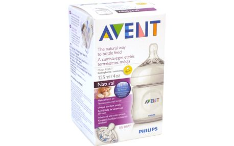 AVENT 125ml Natural PP, 1 ks, mléčná