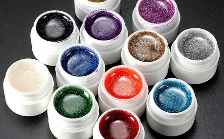 12 barev - gel na nehty - dodání do 2 dnů
