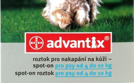 ADVANTIX Spot-on pro psy 4-10 kg 1 x 1 ml