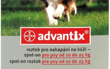 ADVANTIX Spot-on pro psy 10-25 kg 1 x 2.5 ml