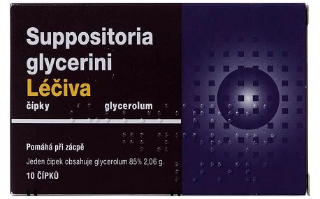 SUPPOSITORIA GLYCERINI LÉČIVA 10X2.06GM Čípek