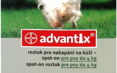 ADVANTIX Spot-on pro psy do 4 kg 1 x 0.4 ml