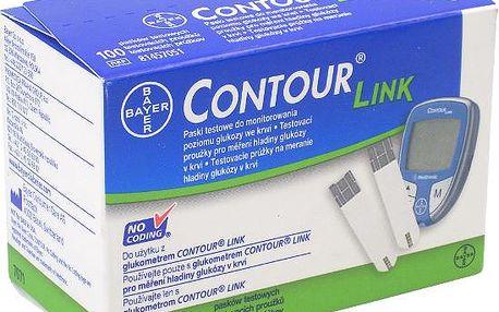 Braun medical Contour link testovací proužky 100 kusů