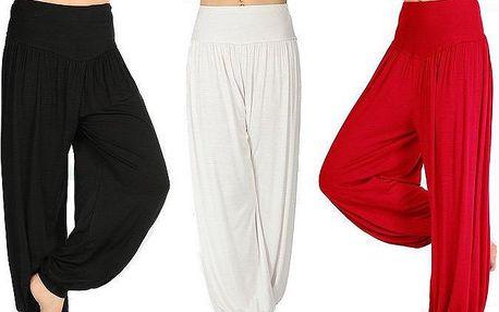 Dámské harémové kalhoty pro maximální pohodlí doma i při sportu v několika barvách