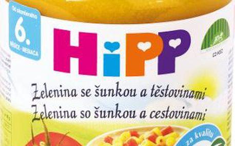 HIPP BABY BIO zelenina se šunkou a těstovinami 190g CZ6210