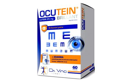 OCUTEIN Brillant Lutein 25 mg DaVinci 60 tobolek + kapky ZDARMA