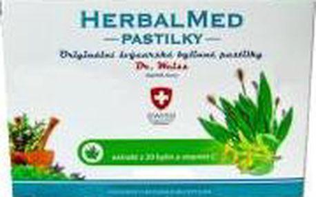 HERBALMED Dr.Weiss pastilky Jitrocel, máta, lípa, vitamin C 12 pastilek
