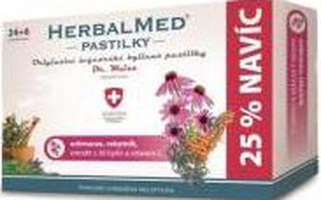 HERBALMED Dr.Weiss pastilky Echinacea, rakytník, vitamín C 24+6 pastilek
